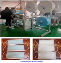 Semi Automatic 3 Layer Disposable Face Mask Making Machine
